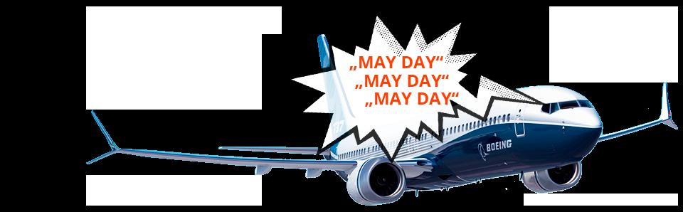 Letadlo vysílá mayday